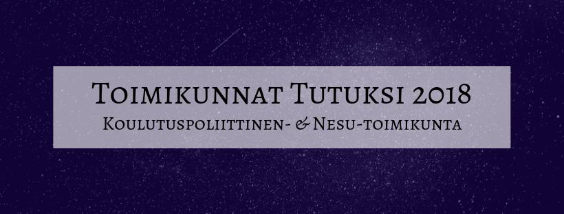 Toimikunnat tutuksi: NESU- ja koulutuspoliittinen toimikunta